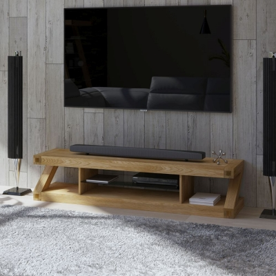 Homestyle GB Z Designer Oak Large Plasma Unit