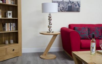 Homestyle GB Z Designer Oak Modern Lamp Table