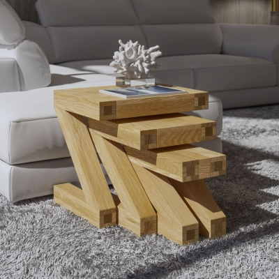 Homestyle GB Z Designer Oak Nest of Tables