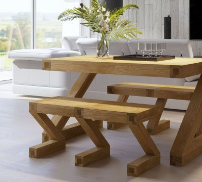Homestyle GB Z Designer Oak Small Bench