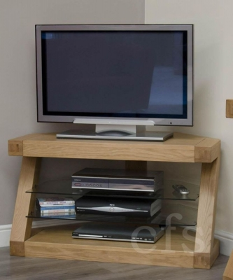 Homestyle GB Z Oak Designer TV Unit  Corner