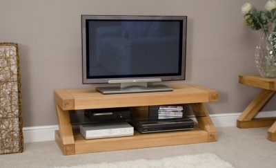 Homestyle GB Z Designer Oak Plasma TV Unit