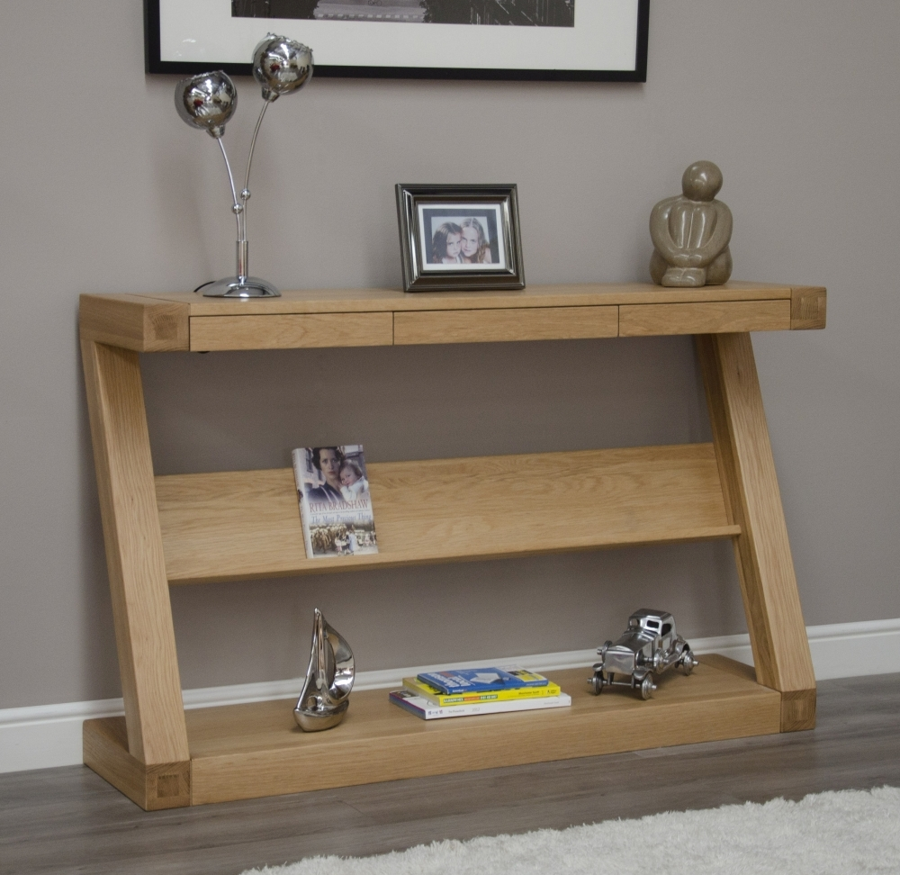 Homestyle GB Z Designer Oak Large Hall Table