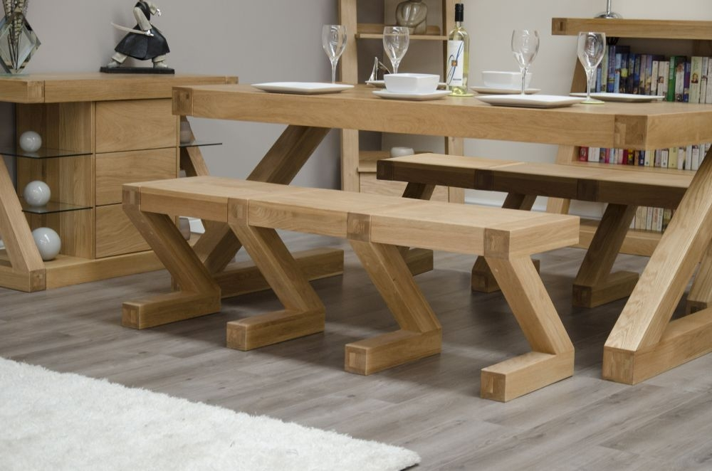 Homestyle GB Z Oak Designer Bench - Large