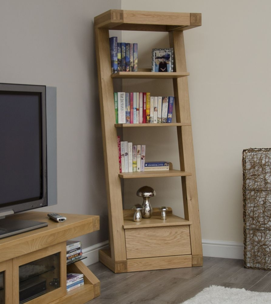 Homestyle GB Z Oak Designer Bookcase - 1 Drawer