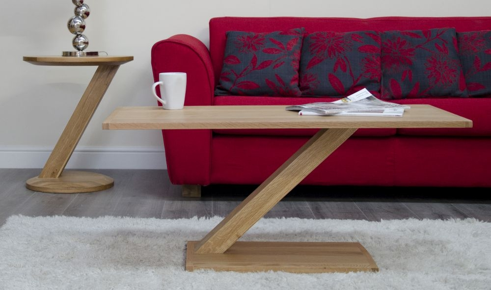 Buy Homestyle Gb Z Oak Designer Coffee Table Modern Online Cfs Uk