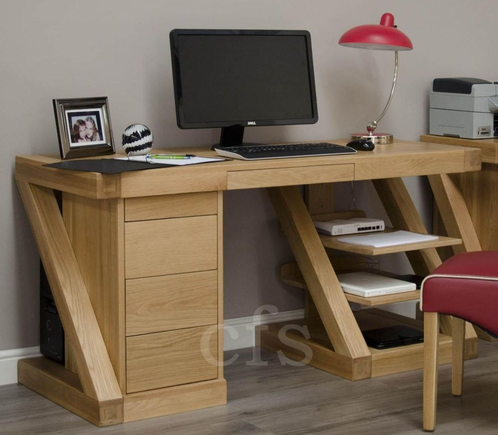 Buy Homestyle Gb Z Oak Designer Desk Large Online Cfs Uk