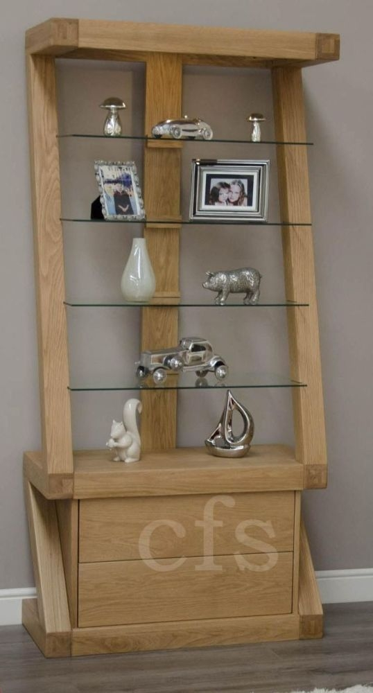 Buy Homestyle Gb Z Oak Designer Glass Display Cabinet Online Cfs Uk