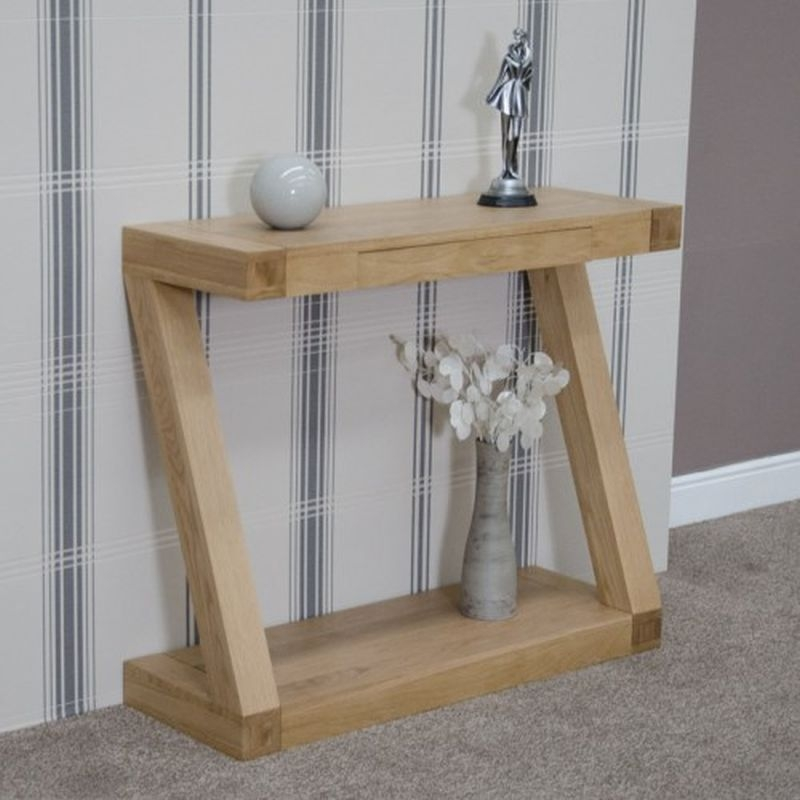 Buy Homestyle Gb Z Oak Designer Hall Table Online Cfs Uk