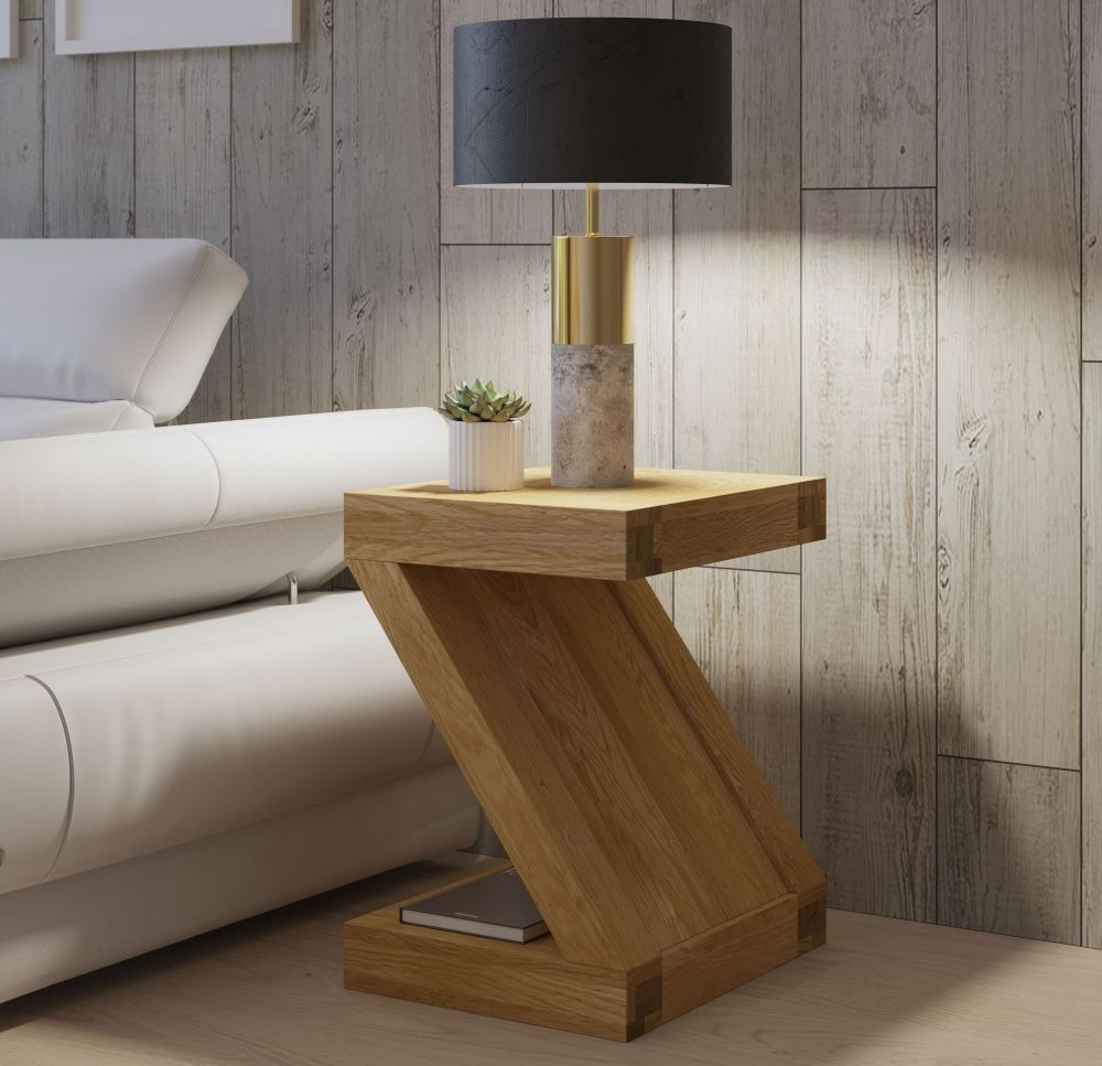 Homestyle GB Z Oak Designer Lamp Table