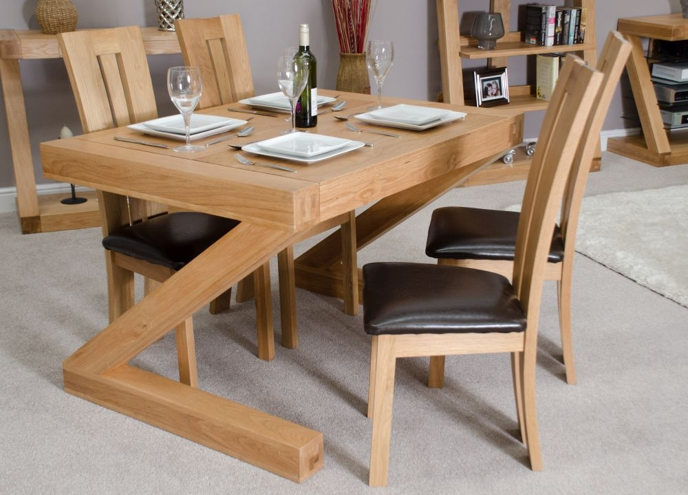 Homestyle GB Z Designer Oak Dining Set and 4 Venezia Chairs