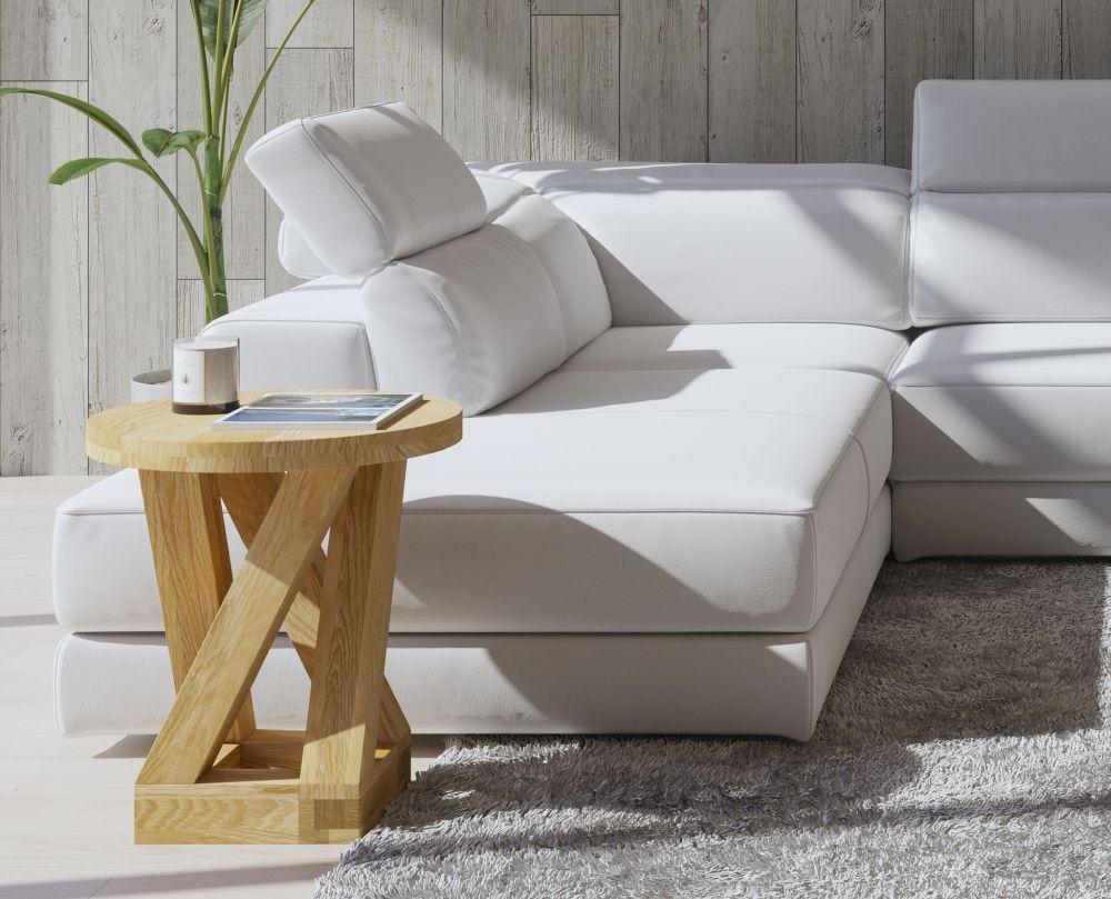 Homestyle GB Z Designer Oak Round Lamp Table