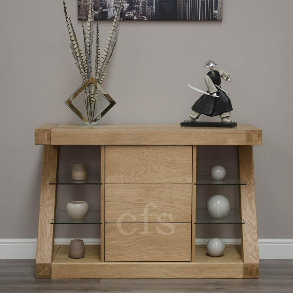 Buy Homestyle Gb Z Oak Designer Sideboard Small Online Cfs Uk