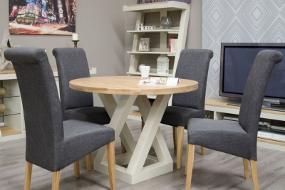 Homestyle GB Z Painted Round Dining Table