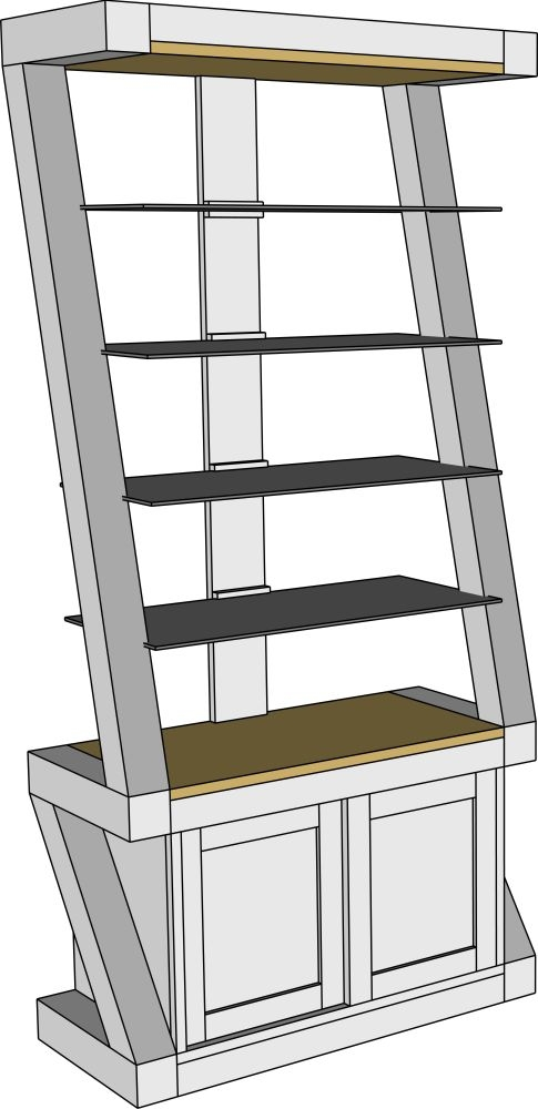 HomeStyle GB Z Painted 2 Door Glass Display Cabinet