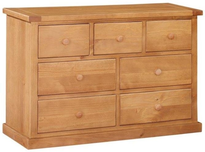 Abington Pine Chest of Drawer - 3+4 Drawer