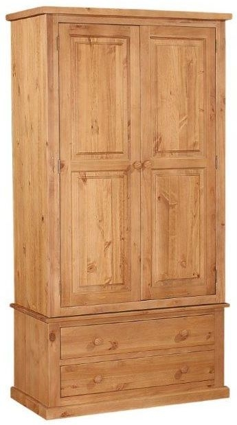 Abington Pine Wardrobe - 2 Door 2 Drawer