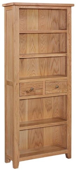 Appleby Mini Oak 2 Drawer Large Bookcase