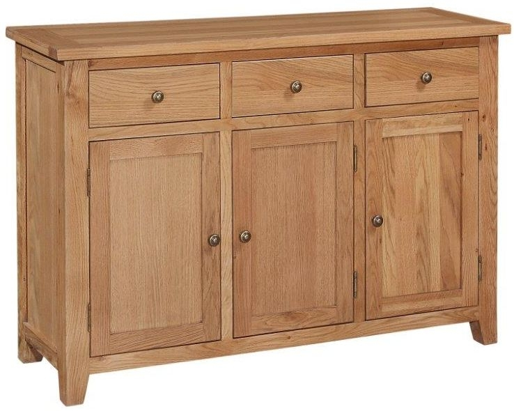 Appleby Mini Oak Sideboard - 3 Door 3 Drawer