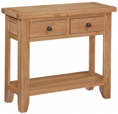 Appleby Oak 2 Drawer Console Table