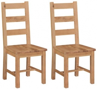 Appleby Oak Wooden Seat Dining Chair (Pair)