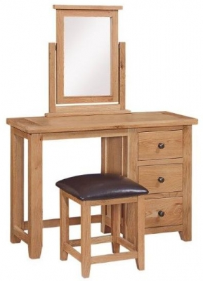 Appleby Oak 3 Drawer Dressing Table