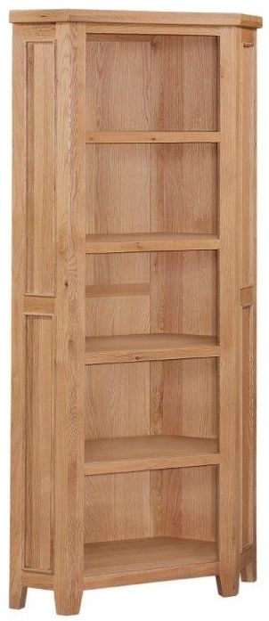 Appleby Oak Corner Bookcase