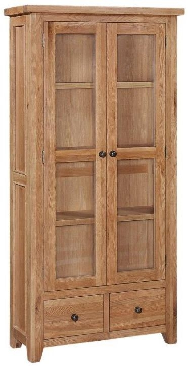 Appleby Oak 2 Door 2 Drawer Display Cabinet