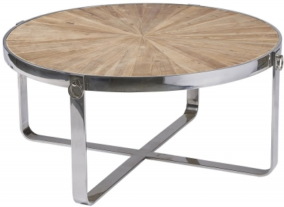 Asbury Reclaimed Pine Hoop Coffee Table