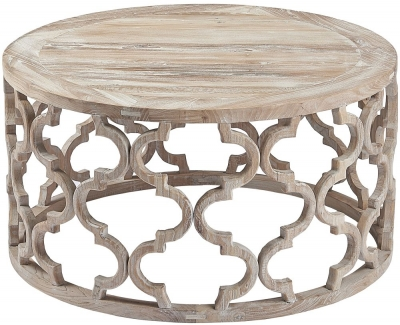 Asbury Reclaimed Pine Lattice Coffee Table