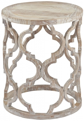 Asbury Reclaimed Pine Lattice Lamp Table