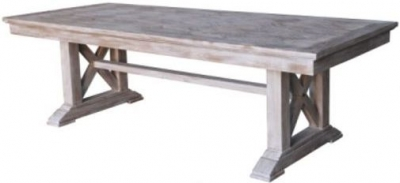 Asbury Whitewashed Dining Table