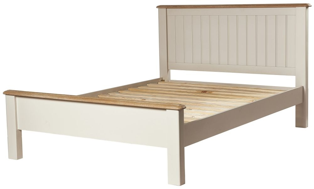 Chester Oak and Ivory Painted Bed