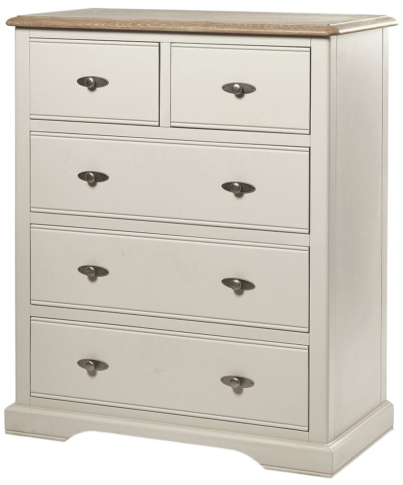 Chester Ivory Chest of Drawer - 2+3 Drawer