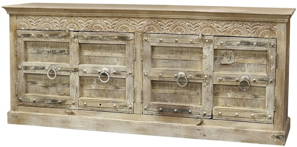 Columbia Old Reclaimed Teak 4 Door Sideboard
