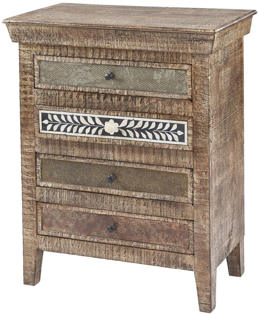 Columbia Reclaimed Teak 4 Drawer Chest