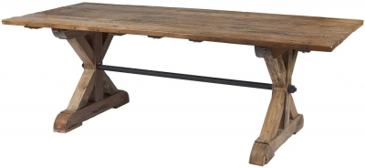 Frisco Reclaimed Wood Akron 220cm Dining Table
