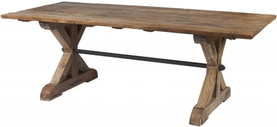 Frisco Reclaimed Wood Akron 240cm Dining Table