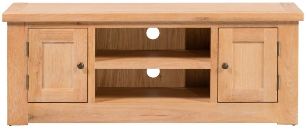 Harvington Solid Oak TV Unit - 2 Door