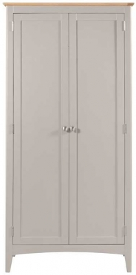 Lowell Oak and Grey Painted 2 Door Wardrobe