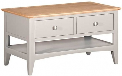 Lowell Oak and Grey Painted 2 Drawer Coffee Table