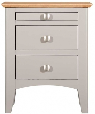 Lowell Oak and Grey Painted Bedside Cabinet