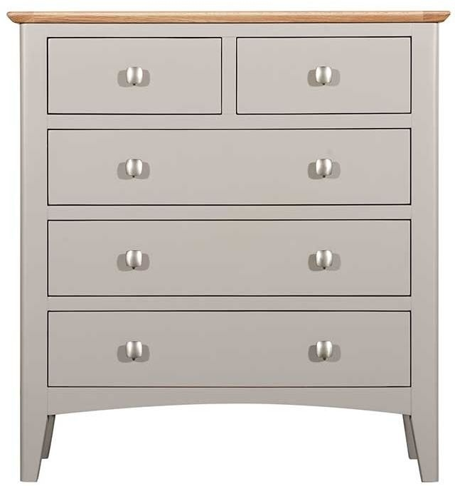 Lowell Oak and Grey Painted 2+3 Drawer Chest