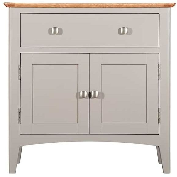 Lowell Oak and Grey Painted 2 Door 1 Drawer Sideboard