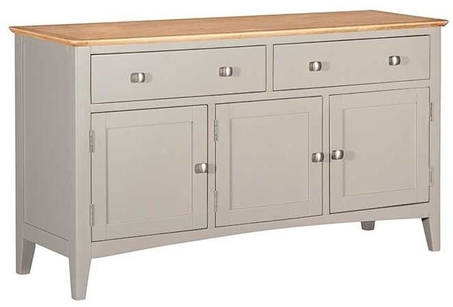 Lowell Oak and Grey Painted 3 Door Sideboard