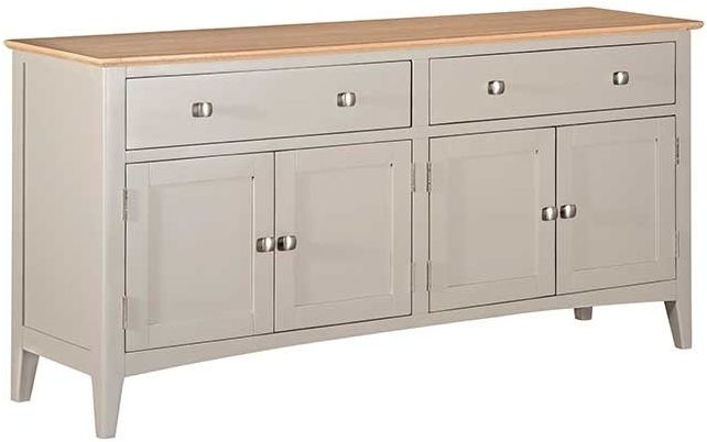 Lowell Oak and Grey Painted 4 Door Sideboard