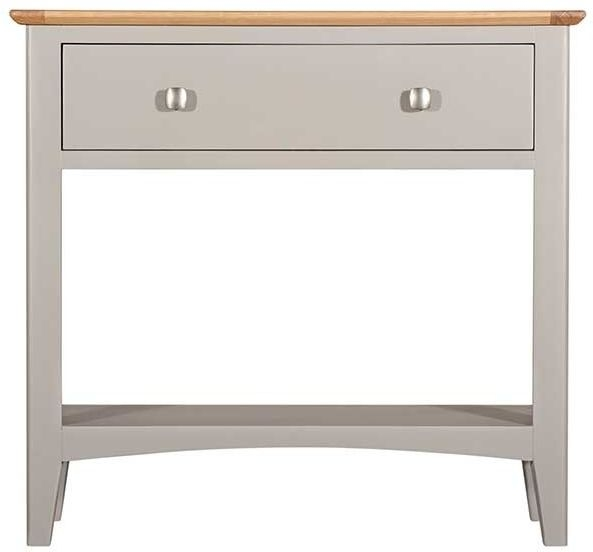 Lowell Oak and Grey Painted Console Table
