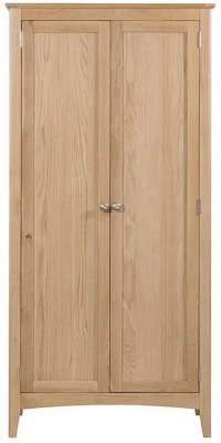 Lowell Natural Oak 2 Door Wardrobe