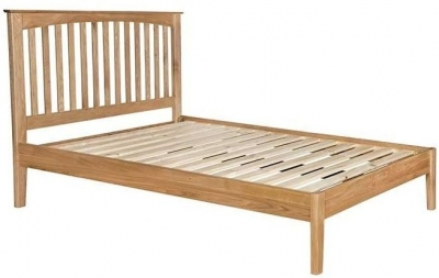 Lowell Natural Oak Slatted Bed