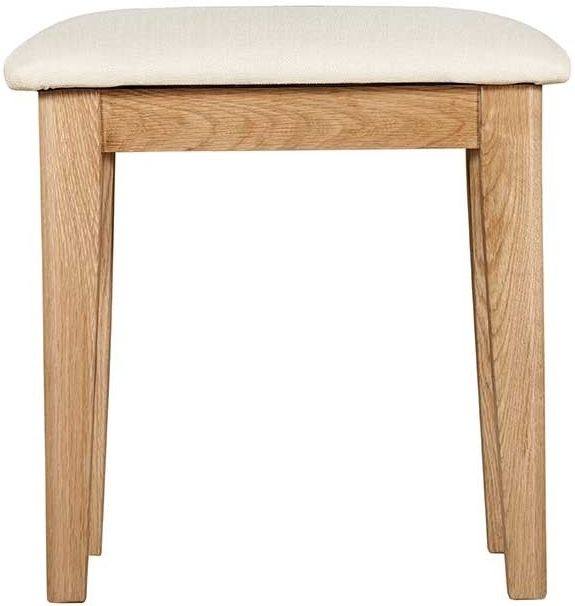 Lowell Natural Oak Dressing Stool
